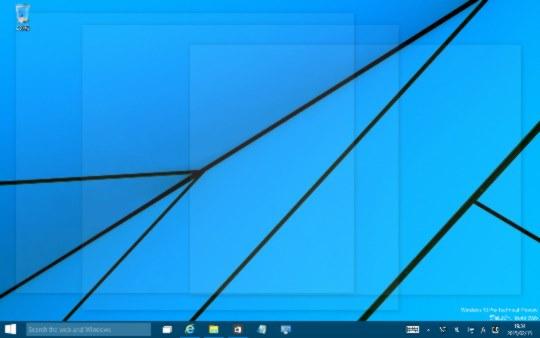 Windows 10 Technical Preview Build 9926のデスクトップ上に表示されているウィンドウをすべて透明化する方法