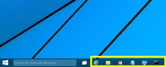 Windows 10 Technical Preview Build 9926でタスク バーに置いてあるプログラムをショートカットキーで起動