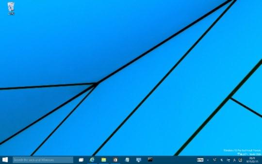 Windows 10 Technical Preview Build 9926のデスクトップに表示されているウィンドウをすべて最小化する方法